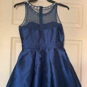 PromGirl Dresses - Embellished Satin Homecoming Dress